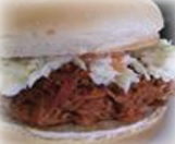 Famous Pulled Pork Barbecue Sandwich