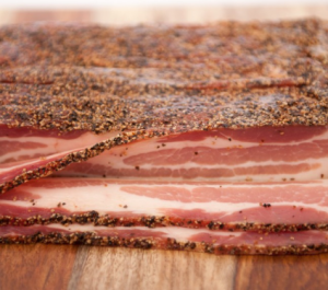 Pepper Coated Thick Cut Bacon